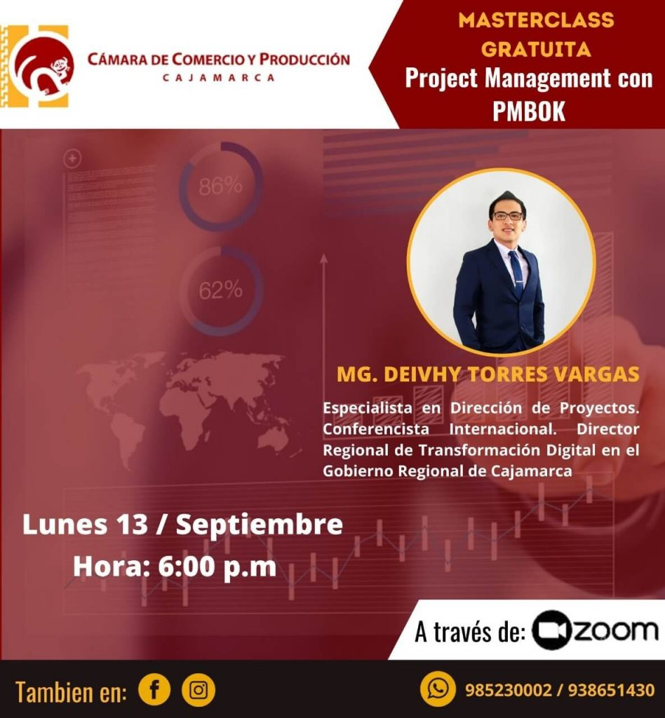 MASTER CLASS PROJECT MANAGEMENT CON PMBOK